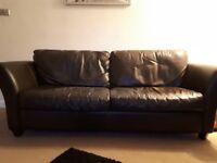 2 & 3 leather sofas