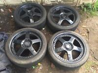 "Ford escort,Fiesta,Focus,puma 18"" lenzo rs5 alloys,£180"