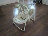 Baby multi speed and timer auto rocker / swing with music function