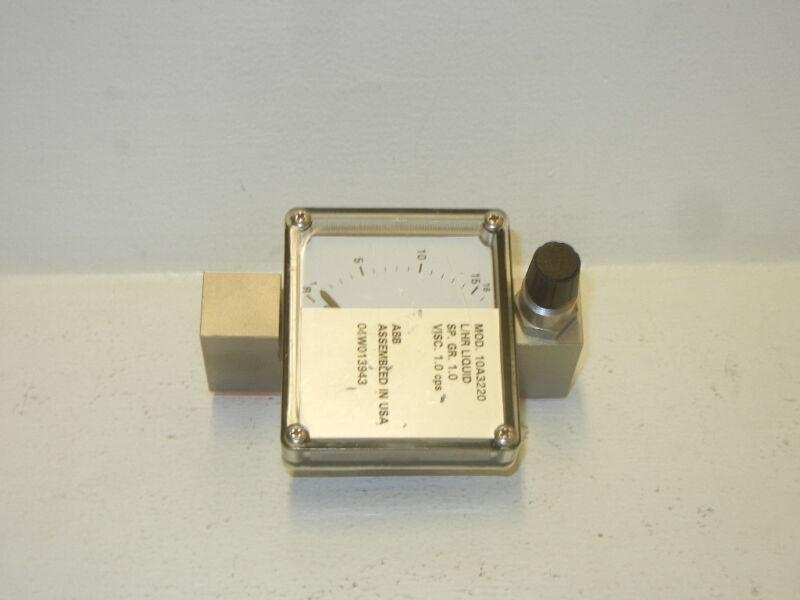 ABB ARMORED PURGEMETER 10A3220 NEW-NO BOX 10A3220
