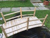 Garden Pond Water Bridge Wooden Stream Outdoor Oriental Feature Rail (New) Flat packed