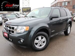 2008 Ford Escape XLT V6 AWD Leather-Sunroof