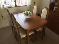 Brand new solid wood extendable dining table