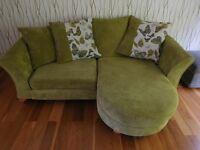 Green Cord Velvet DFS Sofa