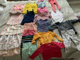 Various baby girl clothes for sale. aged 6-9 months.