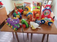 Selection of toys, books and puzzles