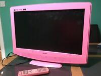 "Bush pink 22"" combi dvd TV"