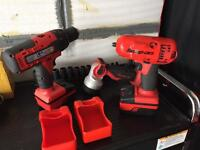 Snap on 3/8 18v impact gun drill light and charger
