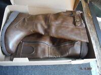 tan womans boots size 5