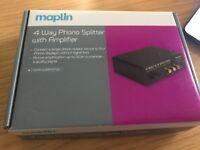 Maplin 4 Way Phono Splitter With Amplifier