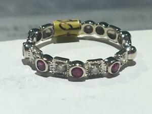 #121 14K BEAUTIFUL CUSTOM RUBY & DIAMOND BAND *SIZE 6* JUST BACK FROM APPRAISAL AT $1350.00!