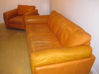 Leather Sofas 3+1 Seater / Armchair 100% Genuine DFS Leather