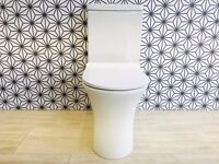 Comfort Height Rimless Toilet WC With Ultra Slim Heavy Duty Seat RRP £350