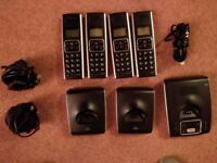 BT Synergy 5500 Trio cordless answerphone and handsets