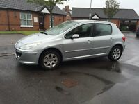 07 peugeot 307 1.4 S*ONLY 63K*CRUISE*FULL MOT!FSH!BARGAIN!not,fiesta,astra,focus,clio