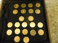 COLLECTION OF RARE £2 AND 50p COINS IN NICE PRESENTATION BOX OFFERS PLEASE