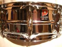 "Premier Model 35 alloy snare drum 14 x 5 1/2"" - Leicester - Circa '77 - Ludwig 400 homage"