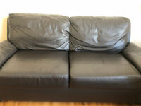 Argos 3 Seater Leather/Leather Effect Sofa - Chocolate