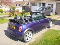 Mini One Convertible metallic purple