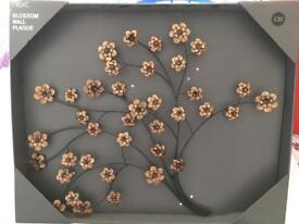 Cooper blossom wall plaque