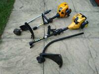 2 petrol 2-piece strimmers and 24 inch petrol hedge cutter