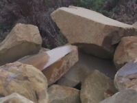 LARGE YORKSTONE / SANDSTONE ROCKERY STONES / BOULDERS FOR SALE