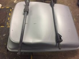 Large Roof Box and roof bars for sale