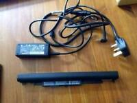 Hp laptop battery and charger