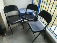 3 outdoor metal chairs