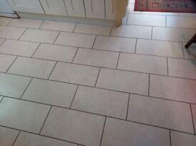 Marca Corona tiles Cream Gres Fine Porcelain 25 tiles 60cm x 30cm