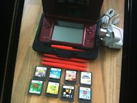 Ds xl with hard case cable and 8 games Sold pending payment