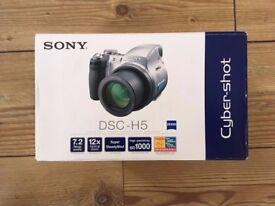 Sony DSC-H5 7.2MP Digital Camera 12x Image Stabilized Zoom