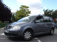 !!! VW VOLKSWAGEN TOURAN 1.6 S !!! GENUINE LOW MILEAGE ONLY 55,000 !!! 7 SEATER MPV 55 PLATE !