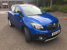 Lovely 2015 Vauxhall Mokka EXCLUSIV in Blue 1.6L great to drive car DAB stop start parking sensors