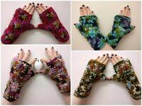 Handmade wool handwarmers/gloves