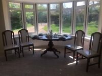 Italian dining table + chairs