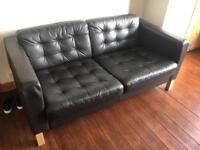 IKEA 2 seater leatherette sofa