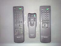 SONY - 3 Remote Controls