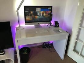 Gloss White Ryman's Desk with Hidden Drawer