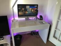 Gloss White Ryman's Desk with Hidden Drawer
