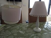 'NEXT' Girls Lamp Shades and stand