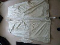 Set of Nursery Curtains,Tiebacks and Pole