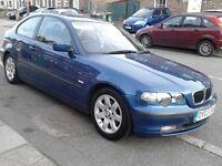 2003 BMW 316 TI SE COMPACT 1.8 PETROL MANUAL **80000 MILES** SPARES OR REPAIR