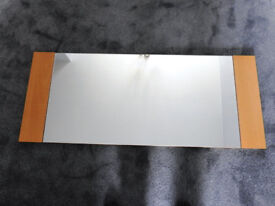 Mirror - 1230mm x 500mm with light oak ends