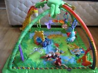 Fisher Price Rainforest Melodies and Light Gym - features removable and stationary toys. Extra toys