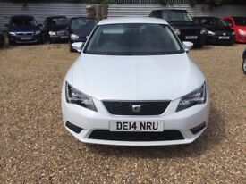 SEAT LEON 2.0 TDI CR SE (Tech Pack) 5dr (start/stop) (white) 2014