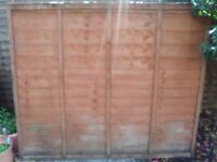 4 waney edge fence panel for sale. Size is 150 by 183.