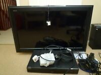 Sony 32 inch television and DVD recorder.