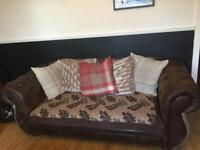 **£200 EXCELLENT SOFA, NEEDS TO GO ** 3+2 suede leather look sofas