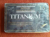 15 Brand New Titanium Golf Balls